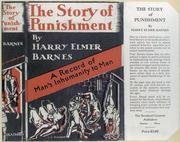 Cover of: The story of punishment: a record of man's inhumanity to man