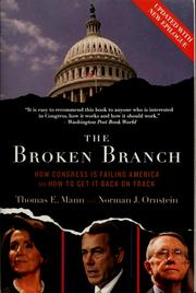 Cover of: The broken branch