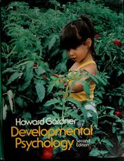 Cover of: Developmental psychology