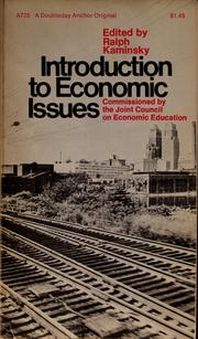 Cover of: Introduction to economic issues. | Ralph Kaminsky