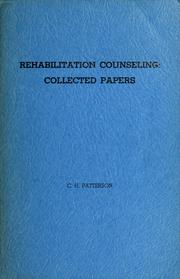 Cover of: Rehabilitation counseling: collected papers