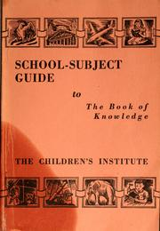 Cover of: School-subject guide to the Book of knowledge |
