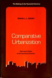 Cover of: Comparative urbanization