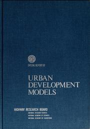 Cover of: Urban development models | Conference on Urban Development Models Dartmouth College 1967.