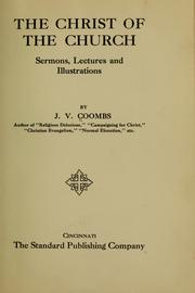 Cover of: The Christ of the church | J. V. Coombs