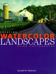 Cover of: Creating Watercolor Landscapes | Don Patterson