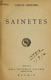 Cover of: Sainetes