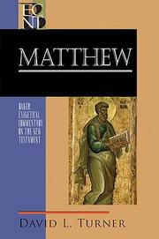 Cover of: Matthew by David L. Turner