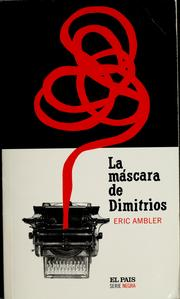 Cover of: La máscara de Dimitrios