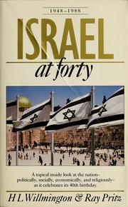 Cover of: Israel at forty, 1948-1988 | H. L. Willmington