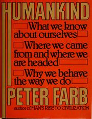 Cover of: Humankind | Peter Farb
