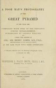 Cover of: A poor man's photography at the Great Pyramid in the year 1865