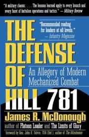 Cover of: Defense of Hill 781