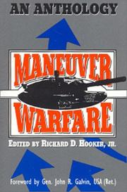 Cover of: Maneuver Warfare | Richard Hooker undifferentiated