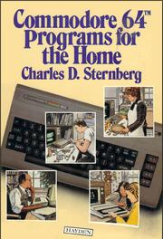 Cover of: Commodore 64 programs for the home | Charles D. Sternberg