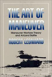Cover of: The Art of Maneuver | Robert Leonhard