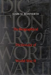 Biographical dictionary of World War II