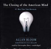 Cover of: The Closing of the American Mind [sound recording]