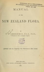 Cover of: Manual of the New Zealand flora