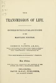 Cover of: The transmission of life