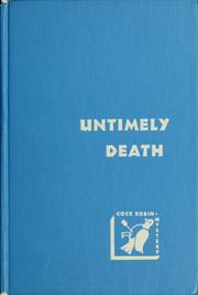 Cover of: Untimely Death: An Inspector Mallett and Francis Pettigrew Mystery