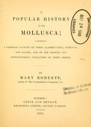 Cover of: A popular history of the Mollusca | Mary Roberts