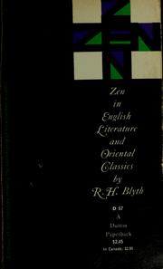 Cover of: Zen in English literature and oriental classics