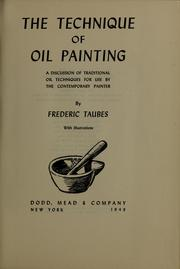 Cover of: The technique of oil painting