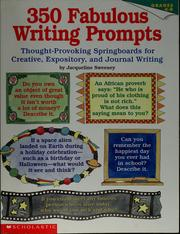 Cover of: 350 fabulous writing prompts