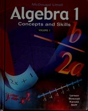 Cover of: Algebra 1 | Ron Larson