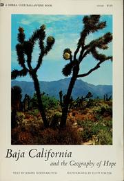 Cover of: Baja California and the geography of hope