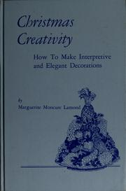 Cover of: Christmas creativity