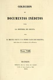 Cover of: Coleccion de documentos inéditos para la historia de España
