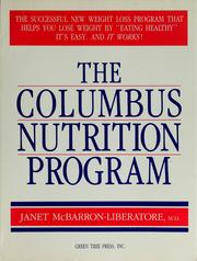 Cover of: The Columbus Nutrition Program | McBarron-Liberatore, Janet, M. D.