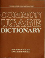 Cover of: Common usage dictionary