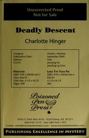 Cover of: Deadly descent | Charlotte Hinger
