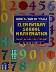Cover of: Elementary school mathematics | John A. Van de Walle