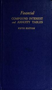 Cover of: Financial compound interest and annuity tables | Financial Publishing Company., Financial Publishing Company