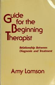 Guide for the beginning therapist
