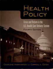 Cover of: Health policy | Charlene Harrington
