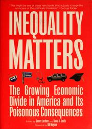 Cover of: Inequality matters