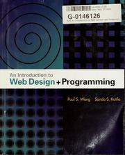 Cover of: An introduction to Web design and programming