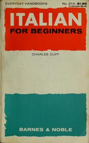 Cover of: Italian for beginners