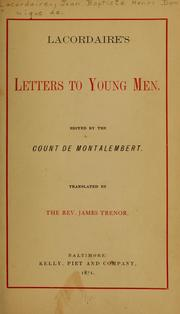Cover of: Letters to young men