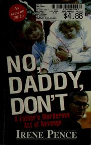 Cover of: No, daddy, don