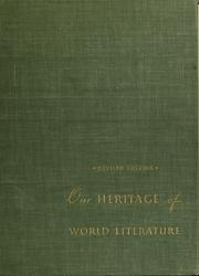 Cover of: Our heritage of world literature