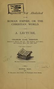 Cover of: Paganism not abolished in the Roman empire