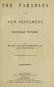 Cover of: The parables of the New Testament pratically unfolded