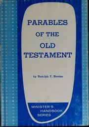 Cover of: Parables of the Old Testament