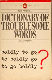 Cover of: The Penguin dictionary of troublesome words